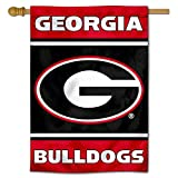 College Flags & Banners Co. Georgia Bulldogs G Two Sided and Double Sided House Flag