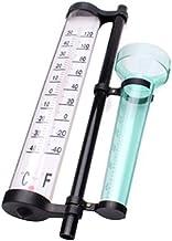 Angoily 3 Em 1 Estação Meteorológica Medidor Termômetro Jardim Ao Ar Livre Multifunções Monitor Indicador de Vento Chuva C...