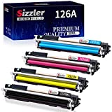 Sizzler Compatible HP 126A Toner Cartridge (CE310A CE311A CE312A CE313A) for HP Laserjet Pro 100 Color MFP M175 M175A M175nw M176 M176FN M177 M177FW TopShot M275 M275NW M275 MFP CP1020 CP1025 CP1025nw