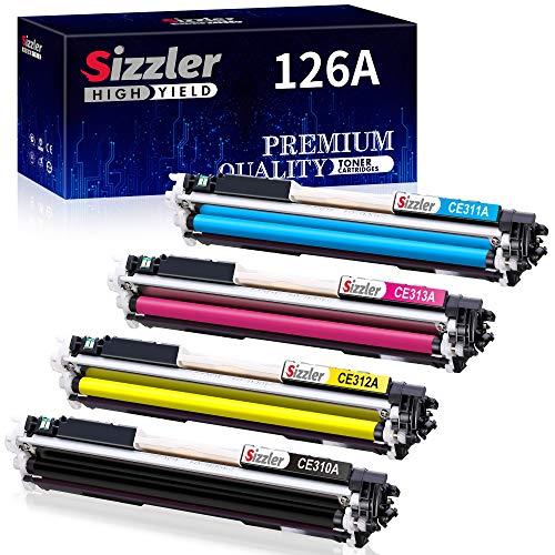 Sizzler Compatible HP 126A Cartuchos de tóner (CE310A CE311A CE312A CE313A) para HP Laserjet Pro 100 Color MFP M175 M175A M175nw M176 M176FN M177 M177FW M275 M275NW M275 MFP CP1020 CP1025 CP1025nw