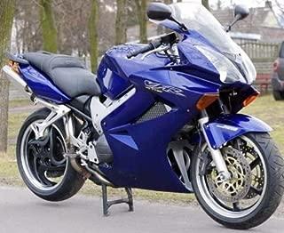FocusAtOne Gloss Blue Complete Fairing Bodywork Painted ABS Plastic Injection Molding Kit for 2002-2012 Honda VFR800 VFR 800 Interceptor VTEC 2003 2004 2005 2006 2007 2008 2009 2010 2011