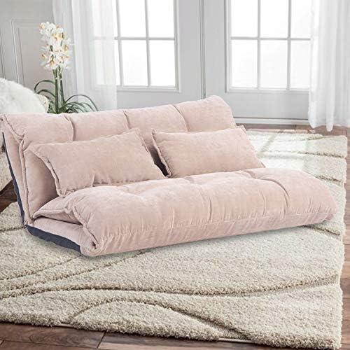Best  Harper & Bright Designs Floor Sofa - Adjustable Lazy Sofa Bed