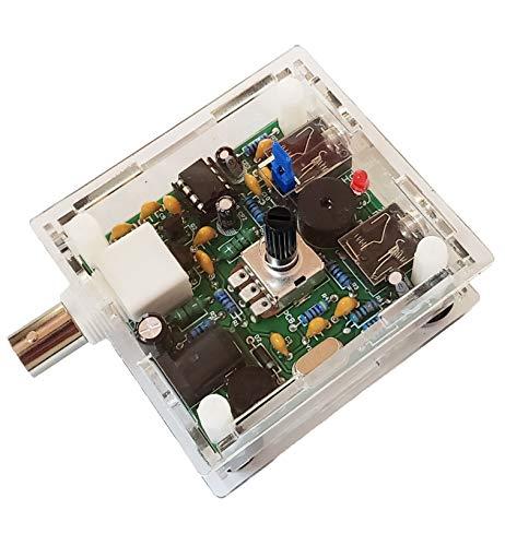 LJJDSLYU S-Pixie HAM Transceiver Radio Shortwave Telegraph 40m Super CW QRP 7.023 MHz DIY Kits with Shell Large Potentiometer