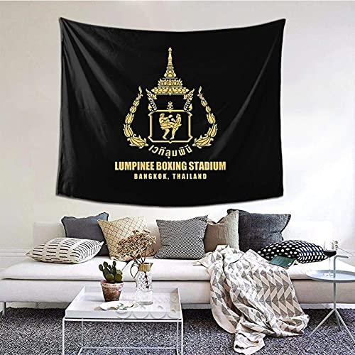 DJNGN Lumpinee Muay Thai Boxing Stadium Thailandia Arazzo stampato, arazzo elegante, da appendere alla parete, decorazione della casa Tovaglia extra large 60 x 51 pollici Camera da letto Soggiorno Dor