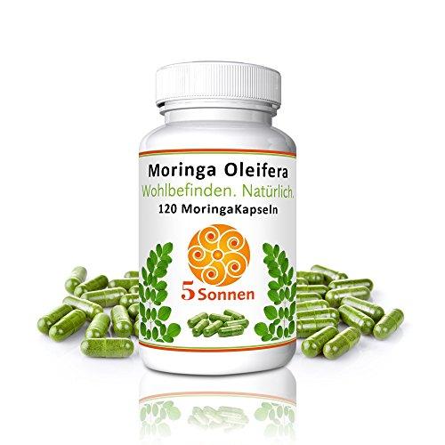 Moringa Kapseln vegan hochdosiert Rohkostqualität Moringa Oleifera 100% reines Naturprodukt Superfood höchste Fülle an Nährstoffen