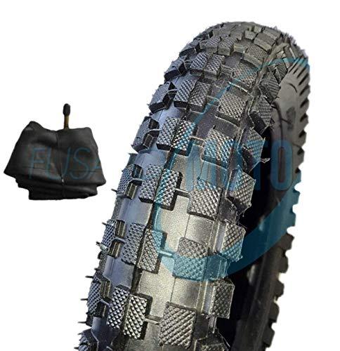 1neumático de goma con cubierta con tacos + cámaras de aire, para minimoto y minimoto de cross 121/2x 2,75