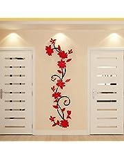Hungryme Pegatinas de Pared Vinilos Decorativos Plantas de Flores Adhesivos Pared Oficina Habitación Dormitorio Salón