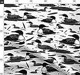 See, Kanada, Kanadisch, Vögel, Federn Stoffe - Individuell