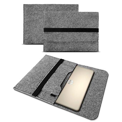 Sleeve Hülle für HP Probook 450 G6 Tasche Notebook Cover Filz Case Laptop Schutzhülle 15,6 Zoll Universal, Farbe:Grau