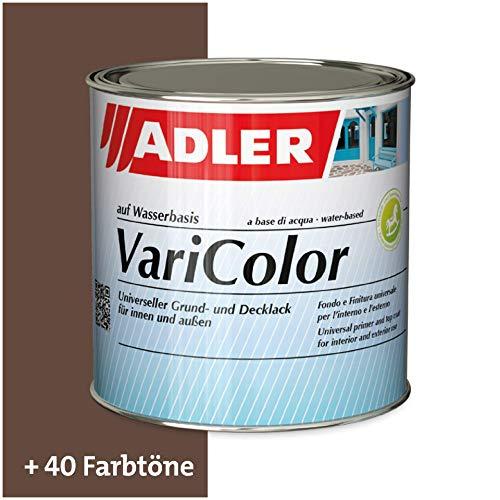 ADLER Varicolor 2in1 Acryl Buntlack für Innen und Außen - 125 ml RAL8011 Nussbraun Braun - Wetterfester Lack und Grundierung für Holz, Metall & Kunststoff - Seidenmatt