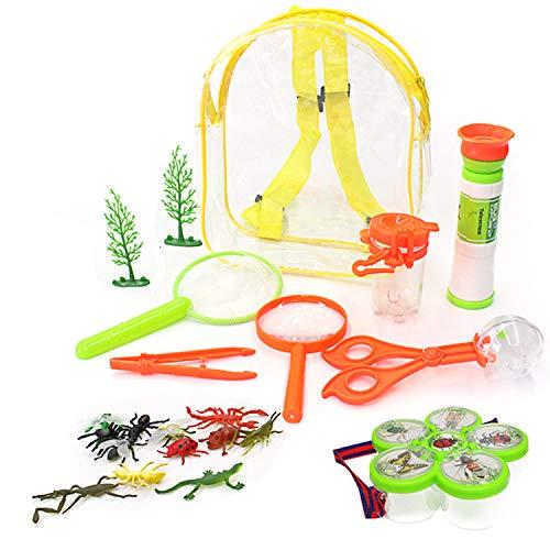 Winthai Kit Explorador NiñOs, 22Pcs Bug Catchers Kit con Contenedores de Insectos Modelos de Insectos Pinzas Lupa para NiñOs Juguetes de ExploracióN de Patio Trasero Al Aire Libre