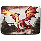 Shavel Home Products Luxury High Pile Oversized Throw, 60 x 80 Inch, Dragon