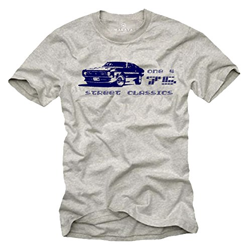 Camiseta Ford Mustang - Street Classic 1975 - Hombre Talla L