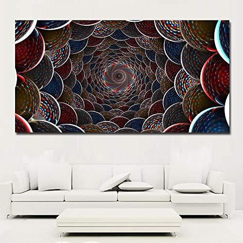 N / A HD Farbkreis abstrakte Malerei drucken Poster Leinwand Malerei Wandbild Wohnzimmer Wohnkultur Rahmenlos 60X120CM