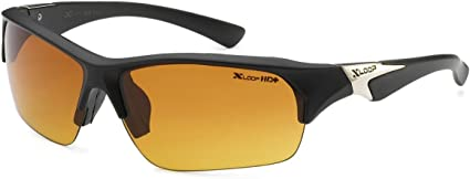 X Loop Polarized Half Frame Sunglasses P-5 Great Driving and Sports
