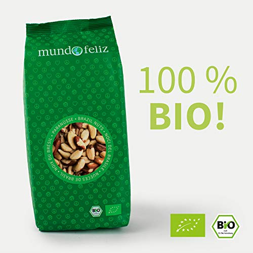Mundo Feliz - Nueces de Brasil ecológicas enteras, 2 bolsas de 500g
