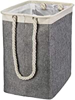 i BKGOO Laundry Basket with Long Handles Linen Hampers for Storage Baskets Built-in Lining with Detachable Brackets...