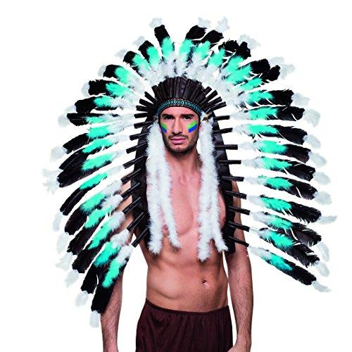 Tocado con Plumas Jefe de Tribu | Tocado de Indio | Accesorio Disfraz Cacique | Adorno Cabeza Nativo Americano