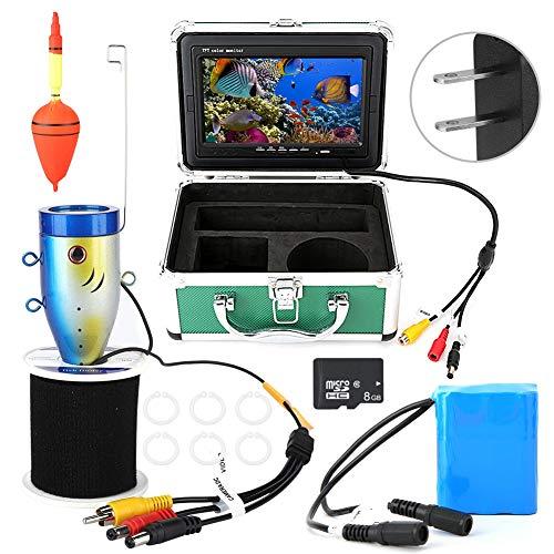 Unterwasserkamera,Fischfinder-Monitor, Unterwasserfischen-Videokamera, 7in Monitor 30m 1000TVL mit 8G TF-Karte für Ice Lake Sea Fishing(Uns)