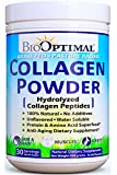 BioOptimal Collagen Powder, Collagen Peptides, Grass Fed, Non-GMO Premium Quality Hydrolyzed Collagen Protein, Pasture Raised, Dissolves Easily, 300 Grams