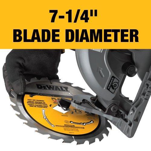 DEWALT FLEXVOLT 60V MAX Circular Saw for Framing, 7-1/4-Inch, Tool Only (DCS577B)