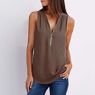 women's Clothing Female Casual Summer Top Shirt Ladies V Neck Zipper Loose Tee Tops Women S Solid Zip Up Top Vestidos Muje...