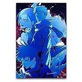 Jujutsu Kaise Gojou Satoru - Póster de personaje azul - Lienzo decorativo para pared, lienzo de pared, impresión moderna, decoración de pared, sin marco, para sala de estar, dormitorio, pasillo, etc.