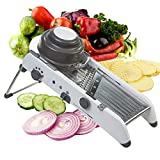 ILS - Mandoline Chopper Julienne Food Slicer per verdure in acciaio inossidabile regolabile Mandoline