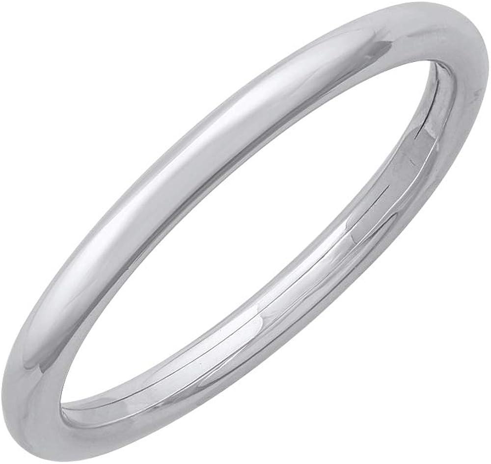 950 Platinum 2 mm Plain Wedding Band