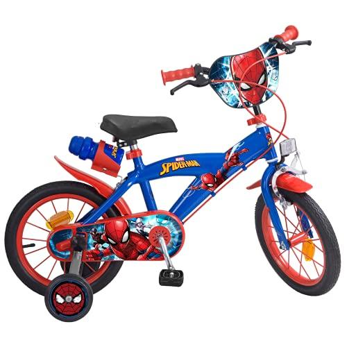 """Toims 874 Spiderman Bicicletta per bambini 14 """", 3-5 anni"""