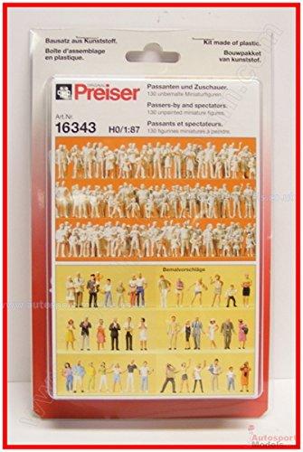 Preiser 1/87th–pr16343–Modelleisenbahnen–Schlaufen Zuschauer–130Figuren