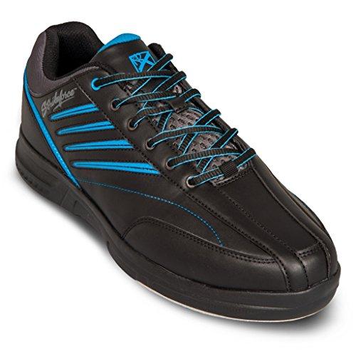 KR Strikeforce Herren Crossfire Lite Bowling-Schuhe, Schwarz/Nautical Blue, - Schwarzes nautisches Blau - Größe: 48 EU