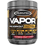 Pre Workout Powder | MuscleTech Vapor One Pre-Workout | Preworkout Powder for Men & Women + Muscle Builder | Creatine Monohydrate + Beta Alanine + Betaine HCL | Rainbow Fruit Candy (20 Servings)