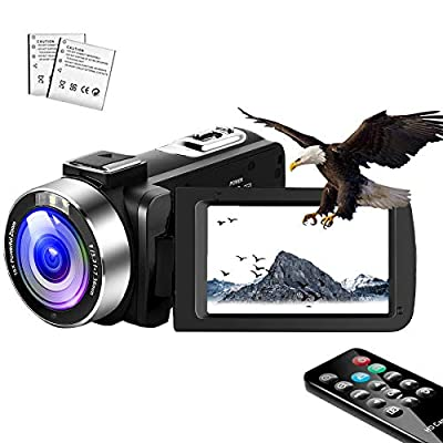 Video Camera Camcorder,Vlogging Camera for YouTube 1080P IR Night Vision Camcorders Camera Recorder 16X Digital Zoom with Pause Function and Remote by