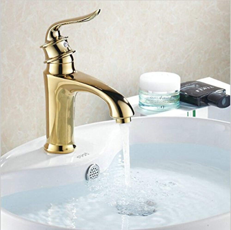 Waschtischarmaturen Golden Copper Mischbatterien Einlochmontage Waschbecken Wasserhahn Waschbecken