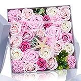 石鹸バラプレゼントボックスは仲間のよい親友に送るだけでなく 引越し 母の日 誕生日バレンタインデー 感謝祭 クリスマスの一番いいプレゼントである 人工バラ(pink)