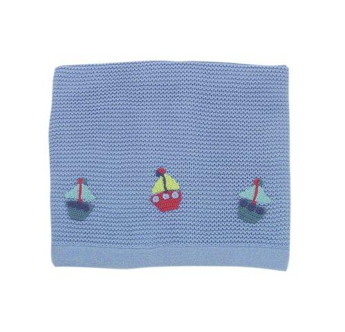 Lollipop Lane Fish and Chips - Copertina lavorata a maglia