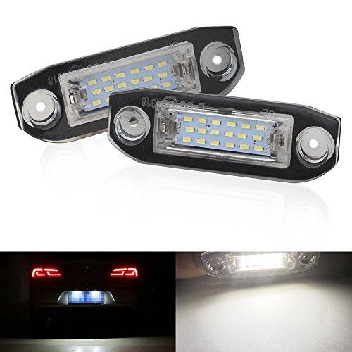 2PZ Xenon Bianco 18 SMD Luce targa auto Alta luminosità 6000K Errore Free 3W per S80 XC90 S40 V60 XC60 S60 V70 C70 Kit lampadina