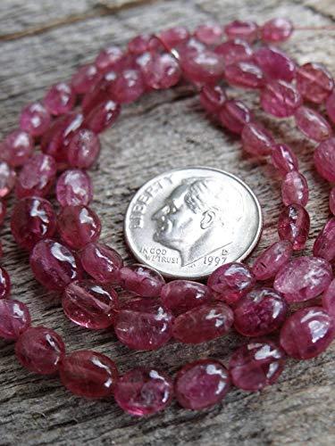 LOVEKUSH 50 % rabatt ädelsten smycken vackra halvädelstenar rosa rubelit turmalin oktober månadssten   Släta ovaler   5 x 4–8 x 6 mm   säljs i uppsättningar av 8 graderade pärlor Kod:- RADE-32381
