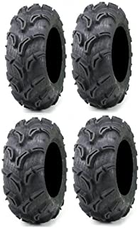 Full set of Maxxis Zilla 27x9-12 and 27x11-12 ATV Mud Tires (4)