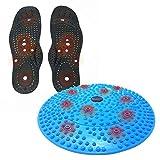 Reflexology Acupressure Foot Therapy Disc & Shiatsu Massaging Magnetic Insoles Bundle