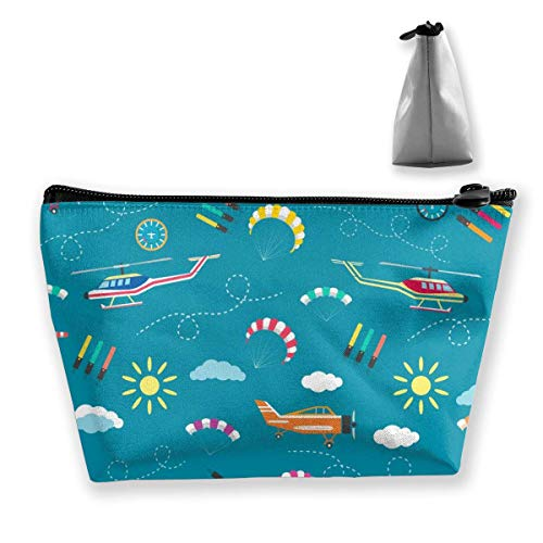 Womena € s Cosmetic Bag Plane Helicopter Parachute Makeup Bag Portable Toiletry Pouch Storage Pouch