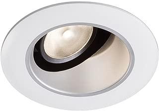 Lightolier L3RABW 3 Inch Adjustable White Baffle Trim Round White Flange Lytecaster