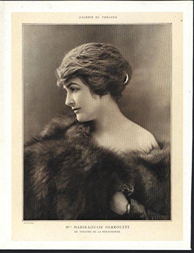 Marie Louise Herrouett 1909 vintage ballet theatre photo