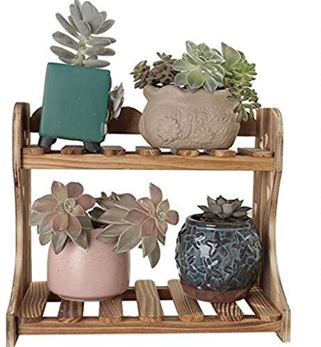 GHMOZ Desktop-Pflanze Regal Massivholz-Blumen-Standplatz-Behälter for Innen Balkon Fussboden Dreidimensionaler (Größe, 30/40 / 50cm) (Large 30cm, 40cm groß) (Color : Large 50cm)