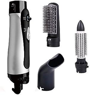Secador de aire caliente Styler cepillo de pelo peine, 3-en-1 lon negativo giratoria Rizador y alisado, salón multifunción y voluminizador Styling, 1000W,Negro