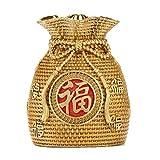 Hucha de cobre puro hongbanlemp para cambiar dinero Hucha con adornos de cobre completo para monedas de hucha exquisitas decoraciones de escritorio que abre la inauguración de la casa (tamaño: L)