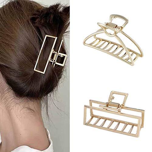 Runmi Haarspangen aus Metall, mittlere Haarklammern, Haar-Accessoires für Frauen und Mädchen (2 Stück)