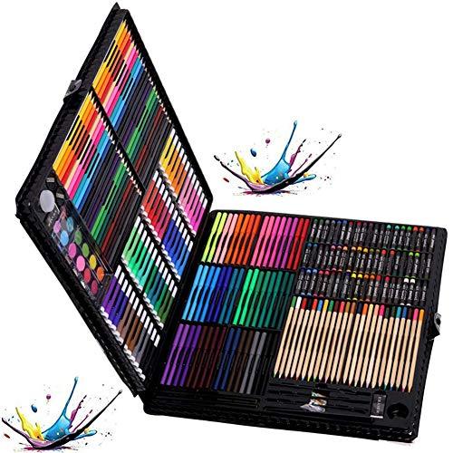 YUEHAPPY® Ensemble D'Artiste 288 Pièces Creativity Art Set Pour Enfants Dessin Et Peinture (Aquarelle, Crayons, Marqueurs De Couleur, Crayons De Couleur)