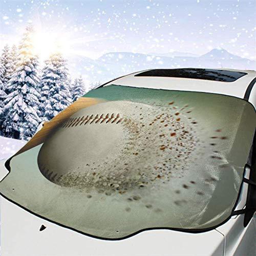 FETEAM Visera de sombrilla automática para Parabrisas Delantero Impermeable Bola de béisbol desintegrando Protector protección